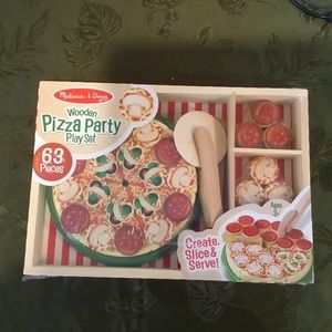 Melissa & Doug Wooden Pizza Party Play Set